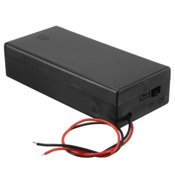3.7V 2x 18650 Battery Holder Connector Storage Case Box ON/OFFSwitch With Lead - intl - 3