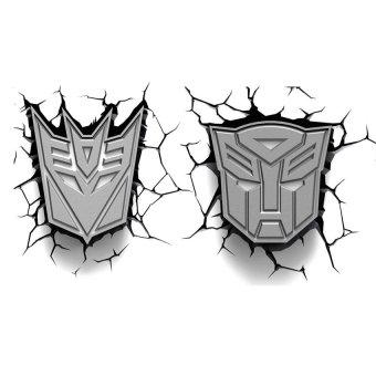 3D Deco Lights Autobot and Decepticon Shield Set