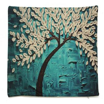 3D Flower Cotton Linen Pillow Case Waist Back Throw Cushion Cover Home Decor - 5