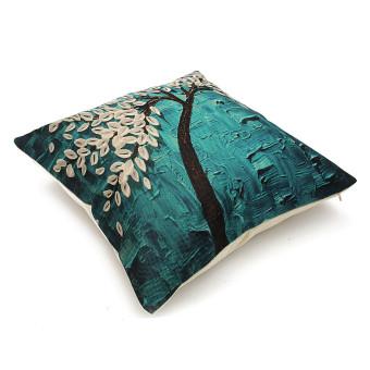 3D Flower Cotton Linen Pillow Case Waist Back Throw Cushion Cover Home Decor - 3
