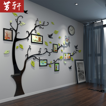 3D living room bedroom children's room Home Decorative wall stickers photo wall