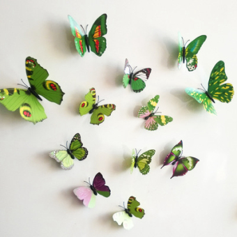 3D model Butterfly Dimensional Wall stickers