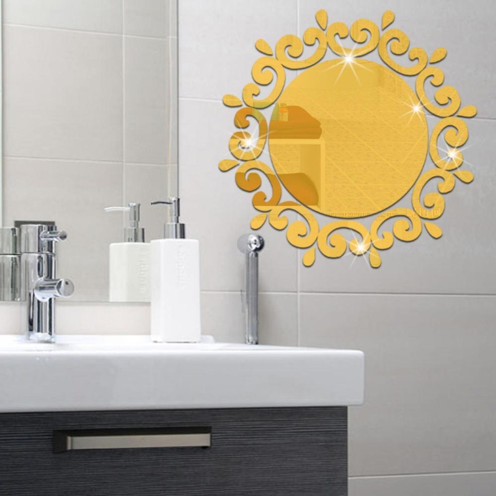 Philippines   3D Stereo Decorative Round Flower Mirror Wall Mirror ...