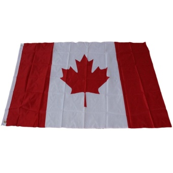 3Ft * 5Ft Canadian Flag Polyester Fabric Flag With Flagpole Bushing- intl Price Philippines