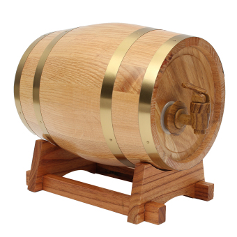3L Vintage Wood Oak Timber Wine Barrel For Beer Whiskey Rum Port Keg Storage - intl