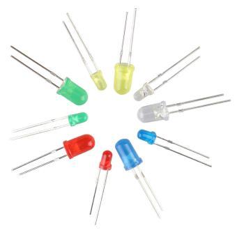 3mm 5mm LED Light-emitting Diode Beads Resistance Lights Kits(375PCS) - intl - 3