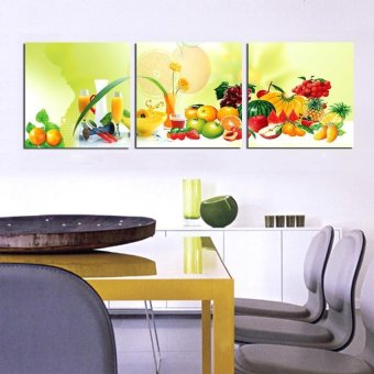 3Panels kitchen fruit Modern Wall Painting flower Art Picture Paint on Canvas Prints for home home decor (No frame)