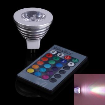 3W RGB 12V MR16 LED Spotlight 16 Colors Lamp Light with Remote Control