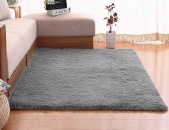 4 cm silk hair living room coffee table bedroom carpet Grey