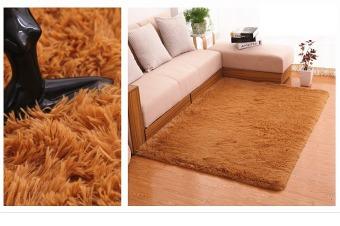 4 cm silk hair living room coffee table bedroom carpet Khaki - 2
