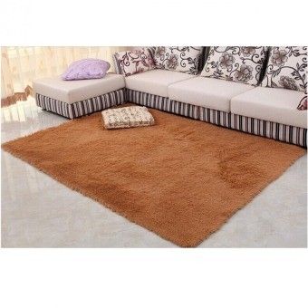 4 cm silk hair living room coffee table bedroom carpet Khaki