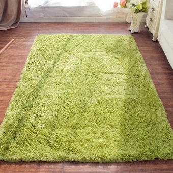 4 cm silk hair living room coffee table bedroom carpet Light green