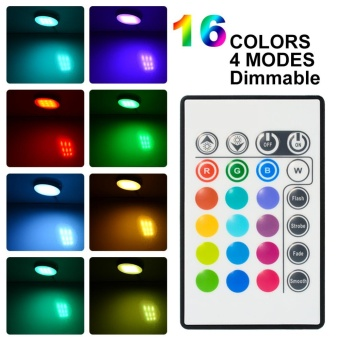 4 Pack Dimmable RGB LED Under Cabinet Lighting, Remote Control Closet Lighting 16 Colors for Kitchen - intl - 3