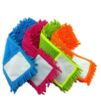 4 pcs Replacement pad for flat mop,mops floor cleaning pad,chenilleflat mop head replacement refill,head to floor mops - intl