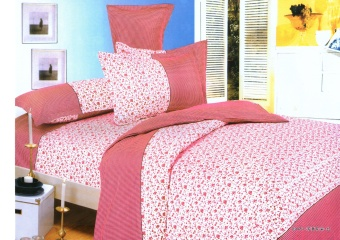 4-Piece Queen Size Bedding with Luxury Cotton Feel- Pink FloralSeries by Manhattan Homemaker