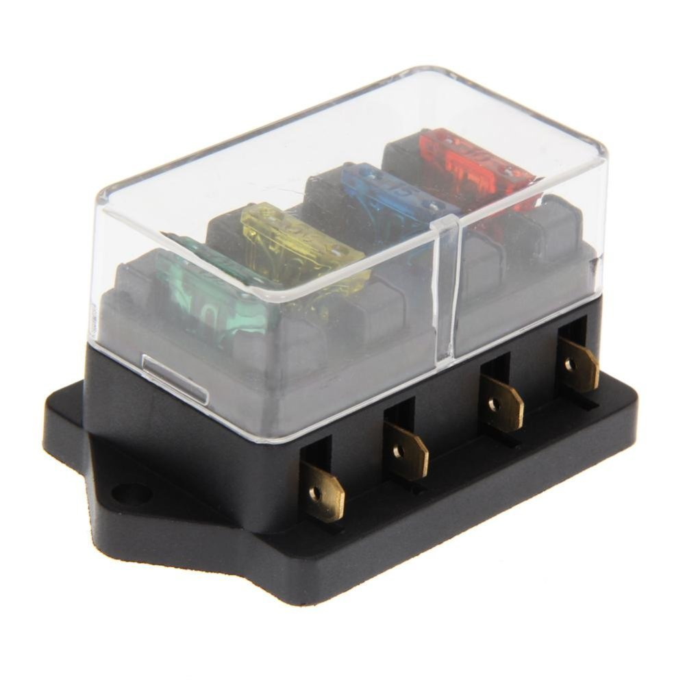 Philippines 4 Way Circuit Blade Fuse Box Block Holder 12v 24v Addacircuit With 20a Medium Size Intl