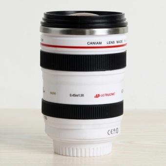 Self Stirring Camera Lens EF 24-105mm Thermos Travel Tea Coffee Mug Cups 400ML