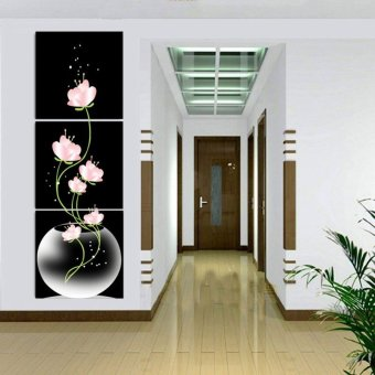 40x40cm 3 Panels Beautiful Flowers Printed On Canvas Home Decor Wall Art Oil Painting Frameless
