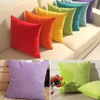 45cm x 45cm Cushion Cover Bed Sofa Throw Pillow Case color:Coffee -intl - 2