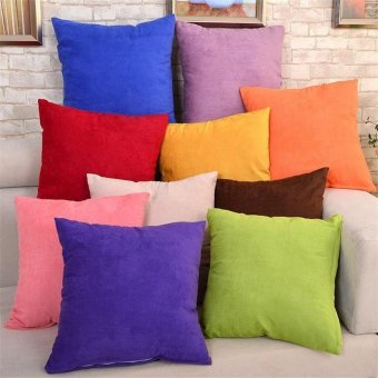 45cm x 45cm Cushion Cover Bed Sofa Throw Pillow Case color:Coffee -intl - 4