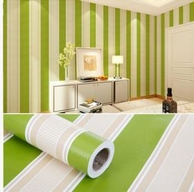45cm*2.5m Vinyl Self-adhesive Wallpaper Rolls Wardrobe Self-adhesive Wallpaper Roll (Green) - intl
