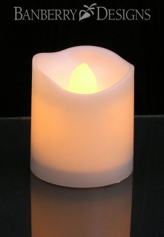 48pcs LED wave type candle lamp (yellow light) - intl - 2