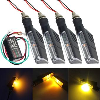 4PCS 1LED Universal Motorcycle Turn Signal Indicator Light + Flasher Relay - intl