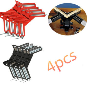 4Pcs 90?Degree Right Angle Picture Frame Corner Clamp Holder Woodworking Hand Kit RED - intl