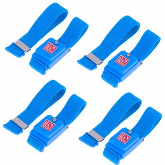 4pcs Anti-Static Dissipating Wrist Strap (Blue) Cloth