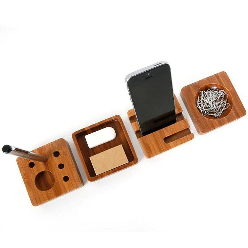 ... 4pcs/set Creative Wooden Stationery Desk Set School Supplies  DeskAccessories Office Desk Organizer Stationery Set ...