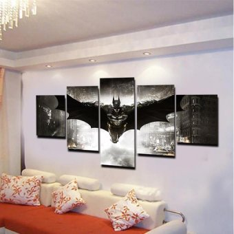 5 Panel No Framed Printed HD Movie Poster Batman Group PaintingLiving Room Bedroom Decor Canvas Art Pictures Gift Painting - 3