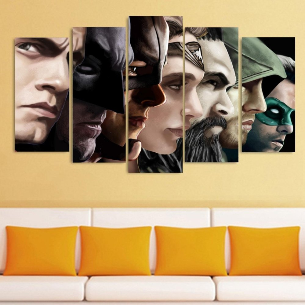 Philippines | 5 Pcs/set No frame Canvas Paintings Comics hero Batman ...
