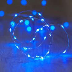 50l fairy light battery operated led christmas light blue - Battery Powered Led Christmas Lights