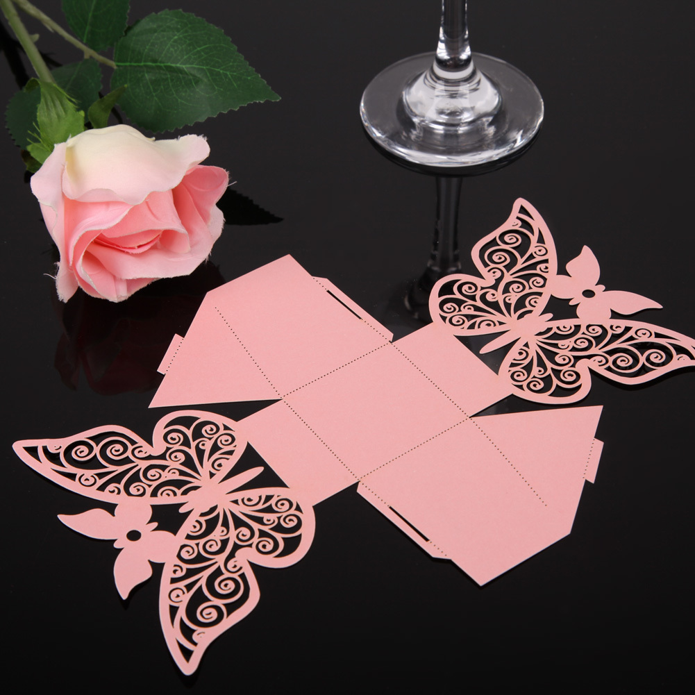 Philippines | 50PCS Butterfly Paper-cut Wedding Candy Boxes Party ...