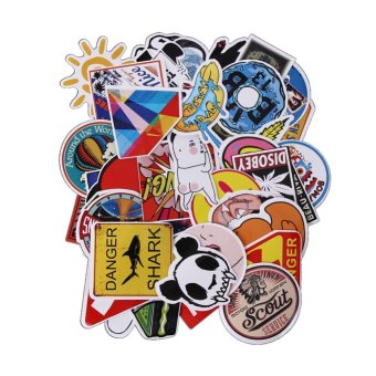 50pcs Gravity Falls Sticker For Car Laptop Luggage SkateboardMotorcycle - intl