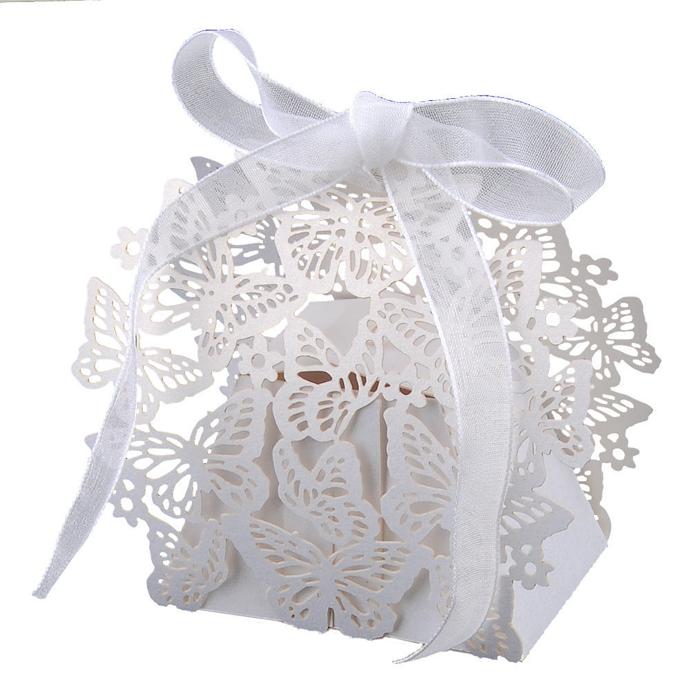 Philippines | 50pcs Laser Cut Butterfly Candy Gift Boxes Wedding ...