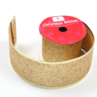 5cm gold gift packaging wide ribbon Christmas RIBBON