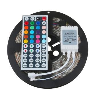 5M 5050 RGB SMD LED Waterproof Flexible Strip 300 LEDs + 44 Key IR Remote - intl - 5