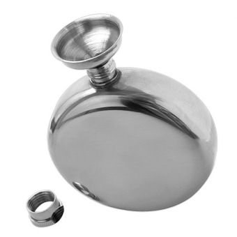 5oz Mirror Polished Stainless Portable Liquor Wine Hip Flask with Funnel (Intl)