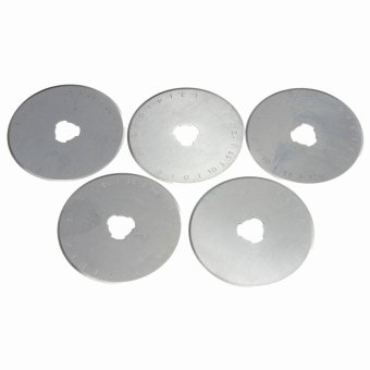 5PCS Cutting Blade + 45mm Rotary Cutter for Fabric Craft Sewing Quilting Tool - intl - 5
