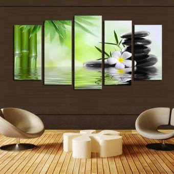 5Pcs/lot Abstract Buddha Canvas Wall Art Painted Oil Painting Home Decor - intl