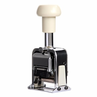 6-Digits Automatic Numbering Machine Self-Inking Stamp Marker, 6 Wheels (Silver) - intl - 3