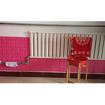 60 cm x 60 cm 3D Self Adhesive Foam Brick Wall Paper Modern VintageBrick Stone (Red) - 5