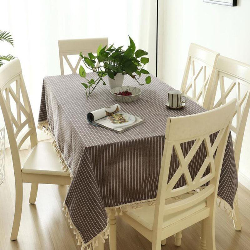 ... 60*60cm Japanese Style Cotton Linen Fabric Tablecloths Modern Simple  Plain Colour Rectangle Tea Table ...