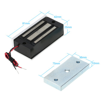 60KG/132lb Electric Magnetic Lock + Door Switch + DC12V PowerSupply for Door Entry Access Control System - 5