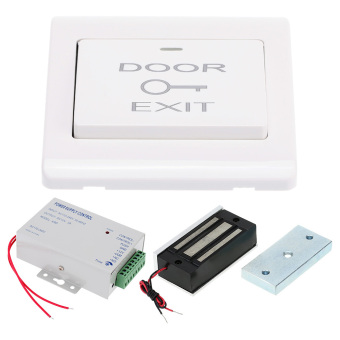 60KG/132lb Electric Magnetic Lock + Door Switch + DC12V PowerSupply for Door Entry Access Control System - 3
