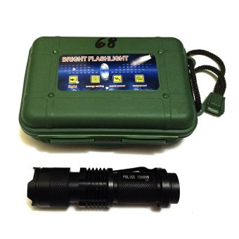 #68 Type Rechargeable Cree LED Flashlight Black - 3