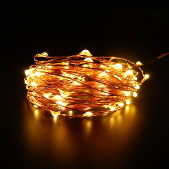 6m 60 Leds 16.5Ft 8 Modes Waterproof Warm White Battery OperatedLED String Lights Fairy lights Christmas lights with Remote Control(Warm White) - 3