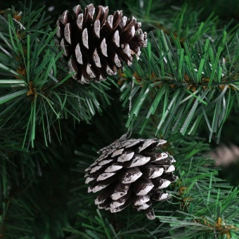 6Pcs 6CM Snow Pinecone Ornaments Christmas Tree Decorations Baubles Pine Cones by LuckyG - intl - picture 2