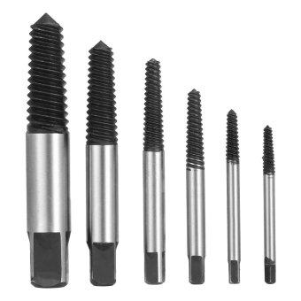 6pcs Broken Bolt Screw Extractor Remover Set Easy Out Drill Bits Tools Kit 3-22mm - intl - 2